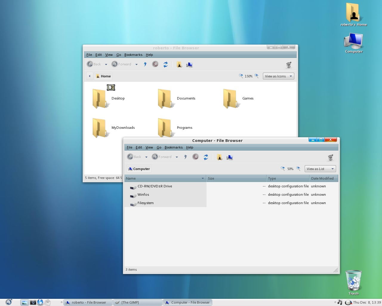 Vistabut Gnome Desktop theme