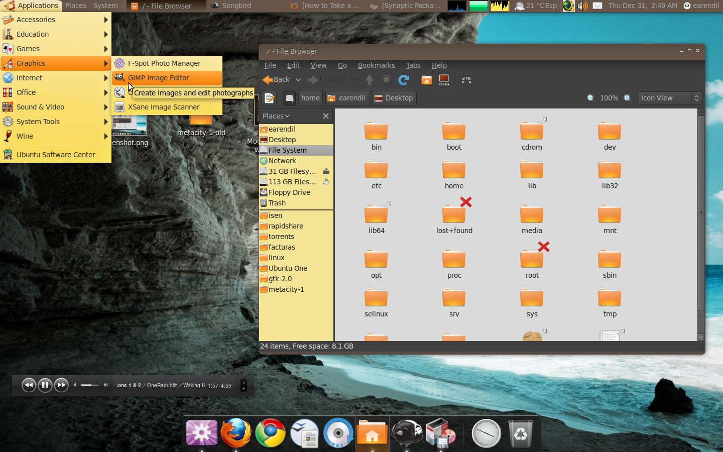 Willkarmic Linux Gnome Desktop Theme