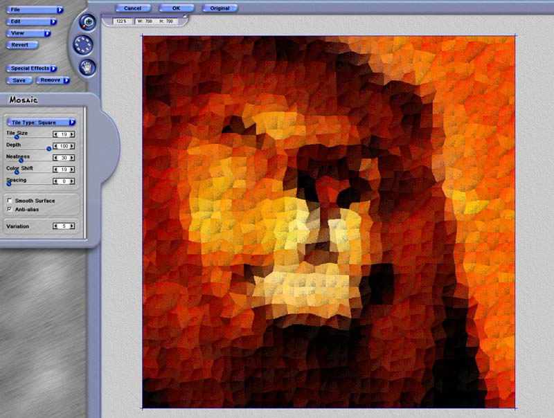 Turn your images into Mosaic photoshop plug-in