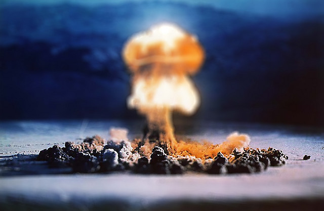 Atomic Test tilt Shift Photography