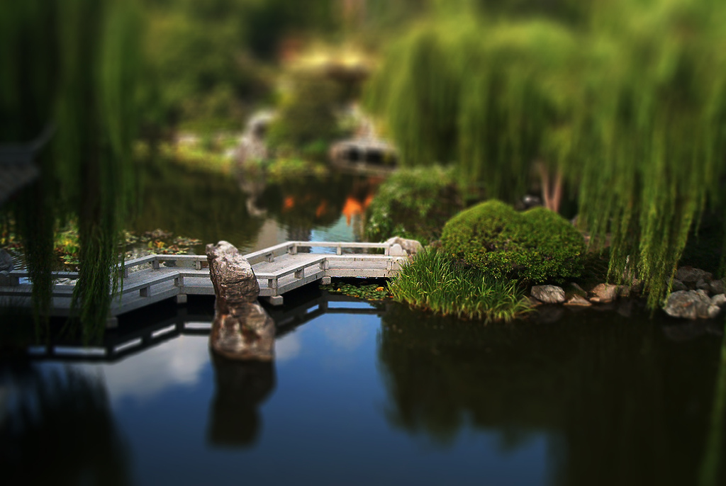 Chinese Garden tilt Shift Photography