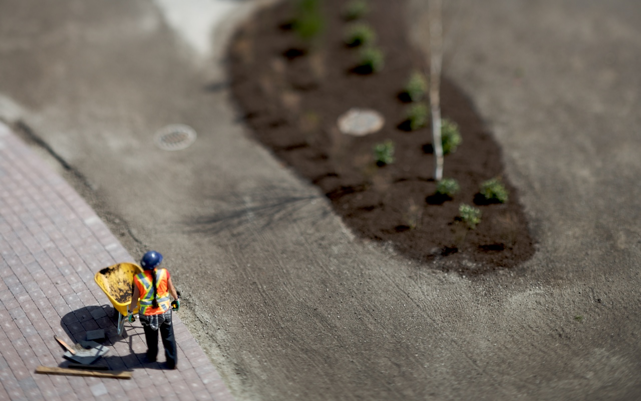 Employed by planet Earth miniature tilt Shift Photography