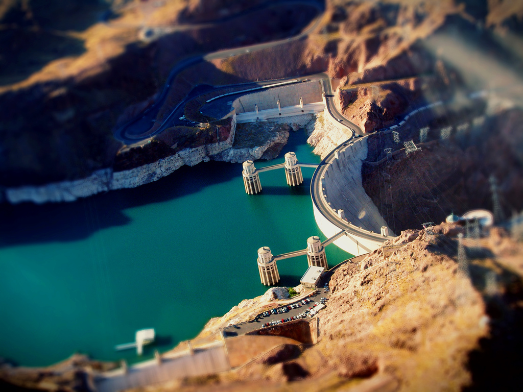 Hoover Dam Excellent Tilt Shift Photography