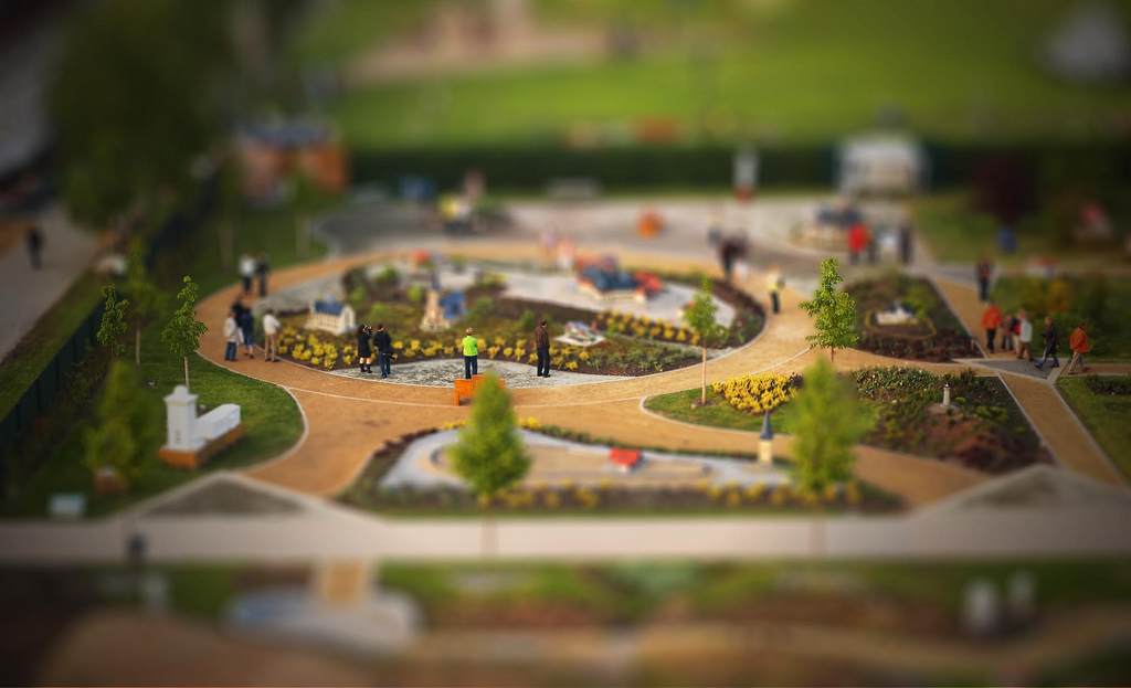 Kleiner Harz tilt Shift Photography