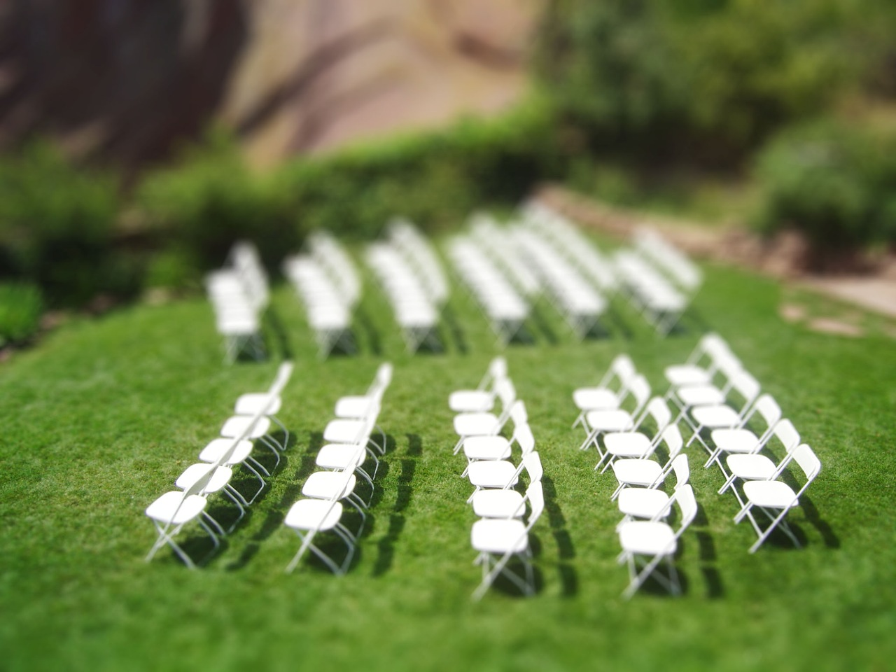 Messin around with chairs Fake tilt Shift Photography