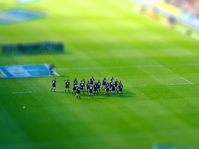 Miniature All Blacks tilt Shift Photography