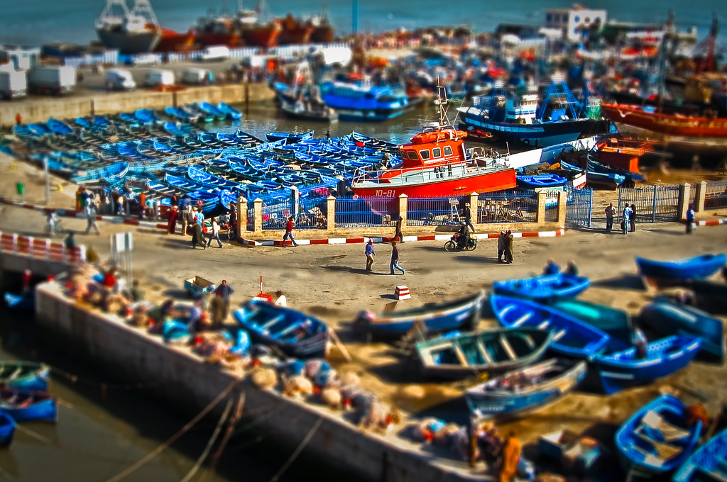 Miniature Essaouira Fake tilt Shift Photography