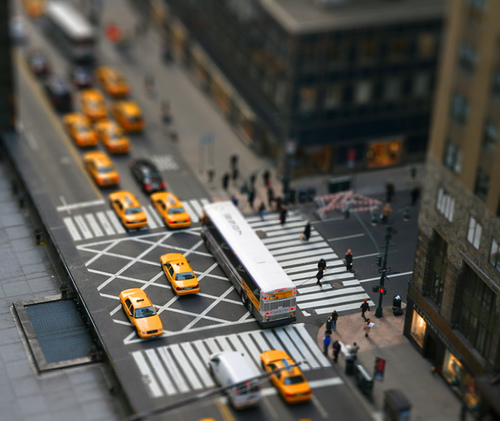 Newyork City Fake tilt Shift Photography