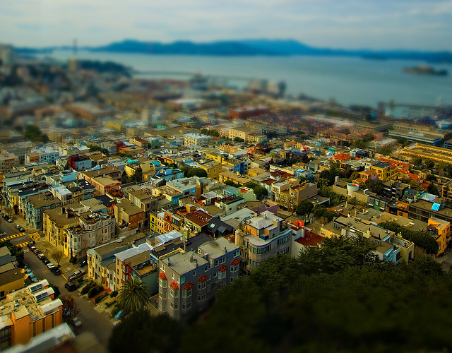 San Francisco Tilt Shift Photography