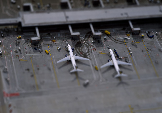 Airport tilt Shift Photography