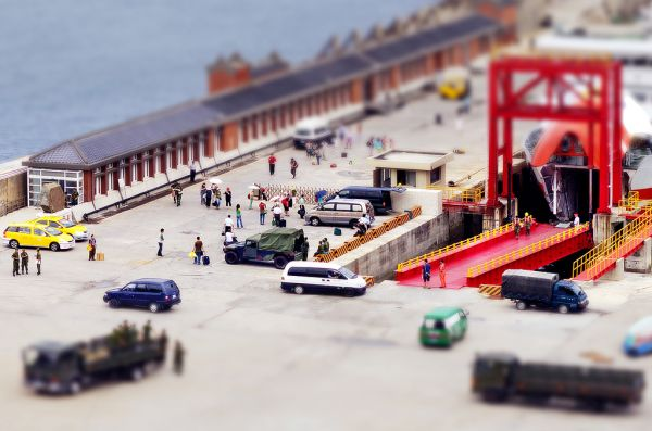 Train Tilt-shift Photography