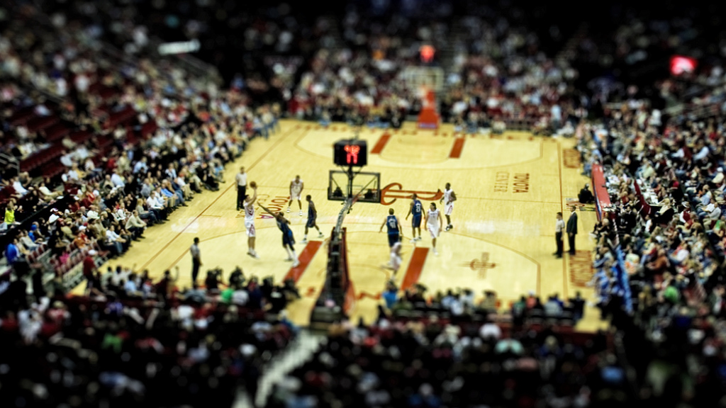 Basket Ball Court Fake tilt Shift Photography