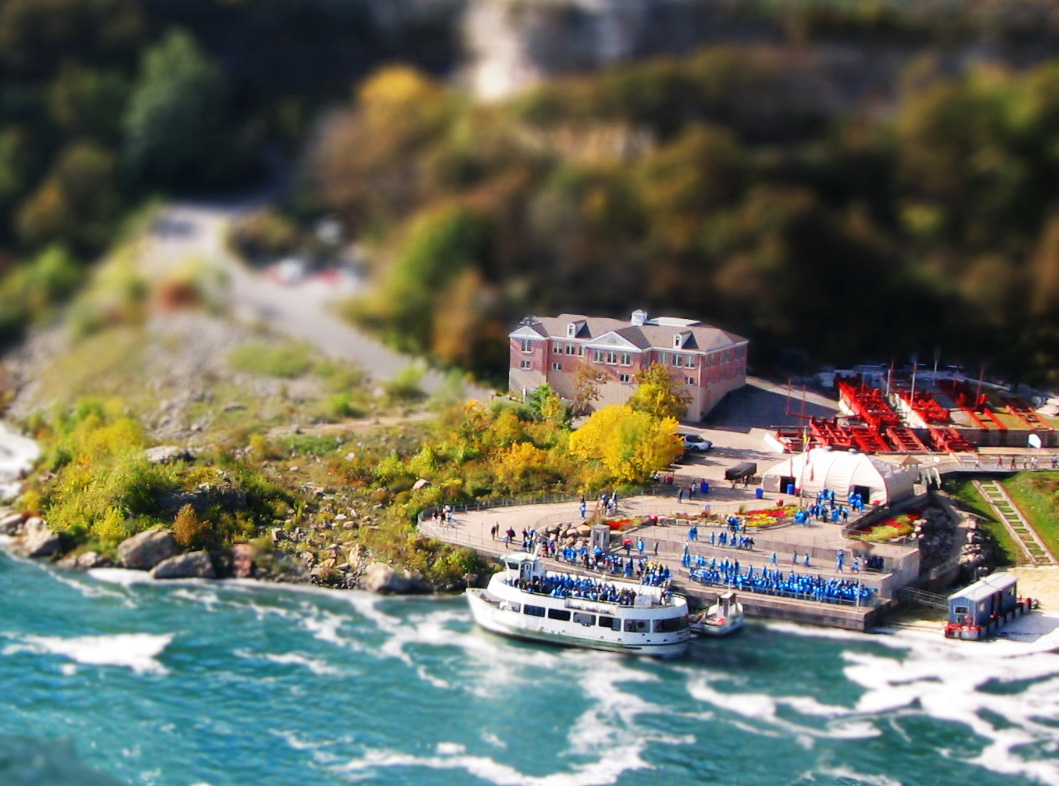 Boat tilt Shift Photography