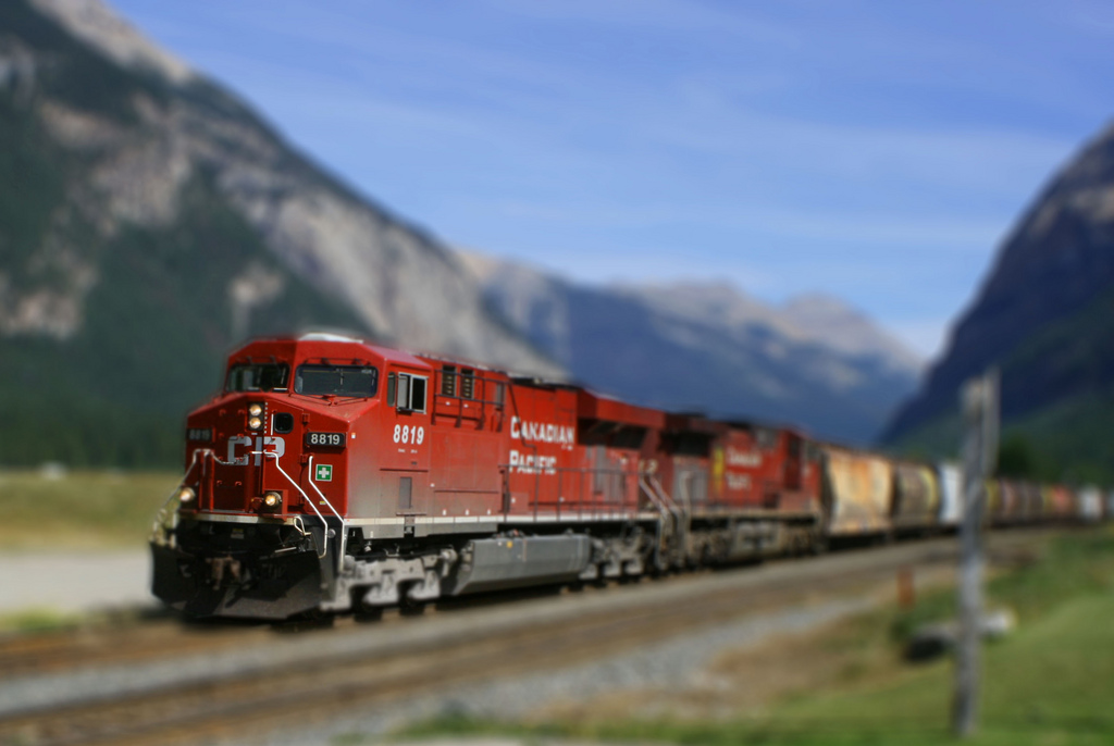 Canadian Pacific miniature tilt Shift Photography