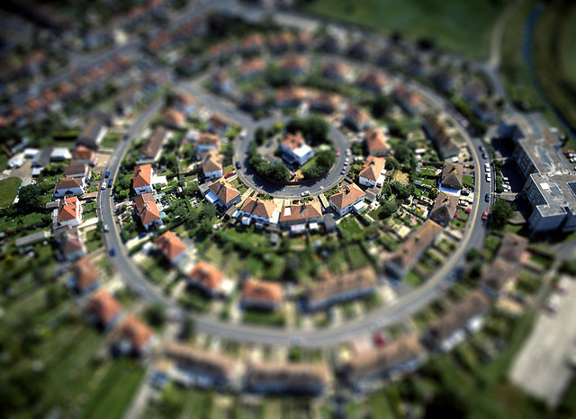 Excellent city Tilt Shift Photography