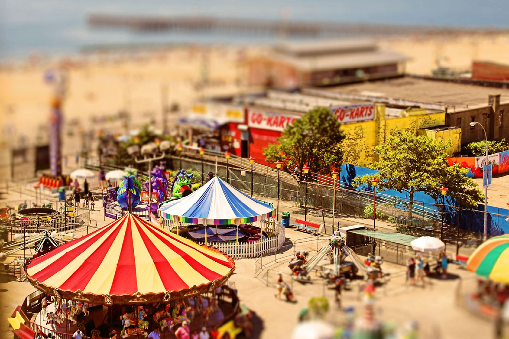 Coney Island of the Mind tilt Shift Photography