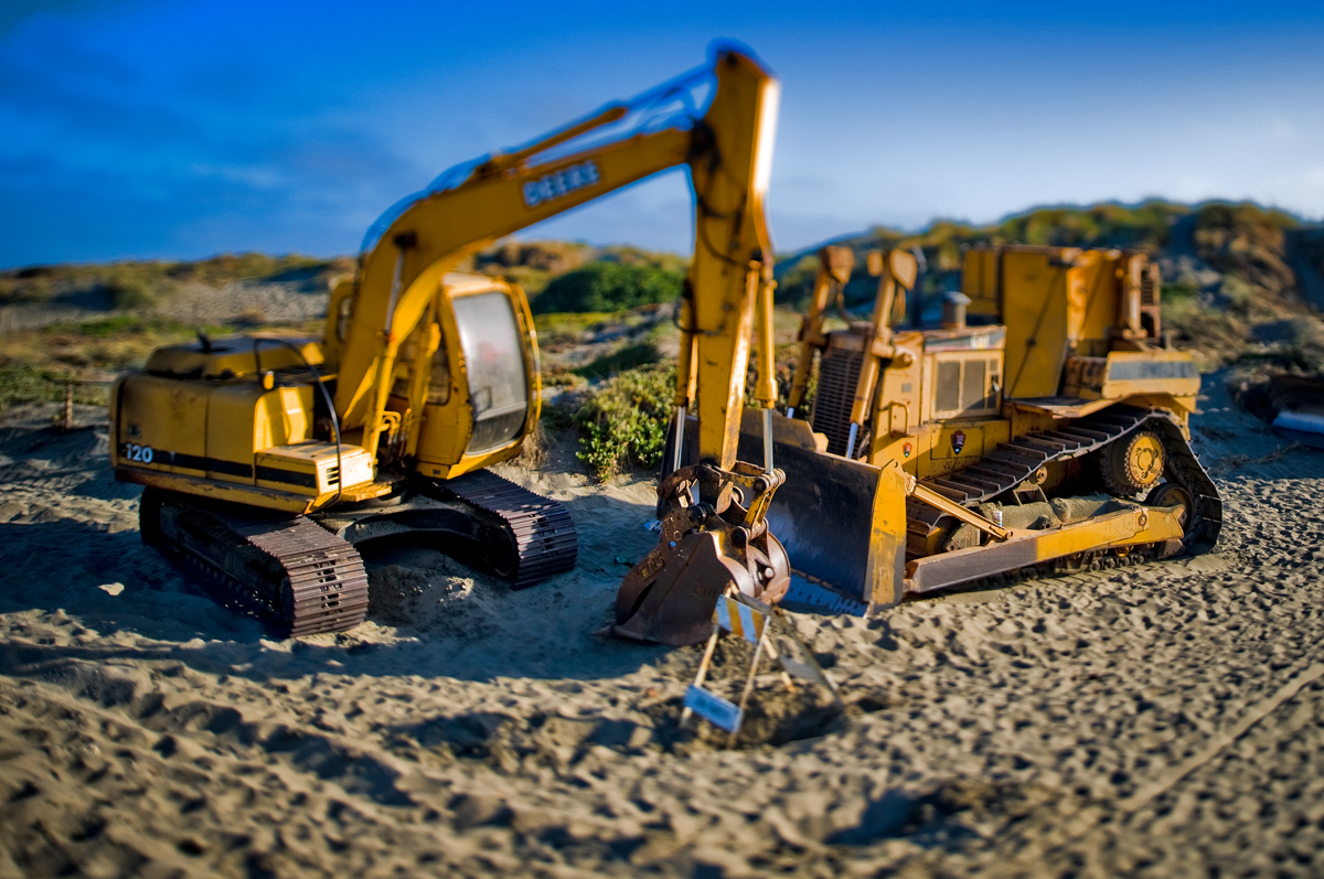 Crawler Dozers miniature tilt Shift Photography
