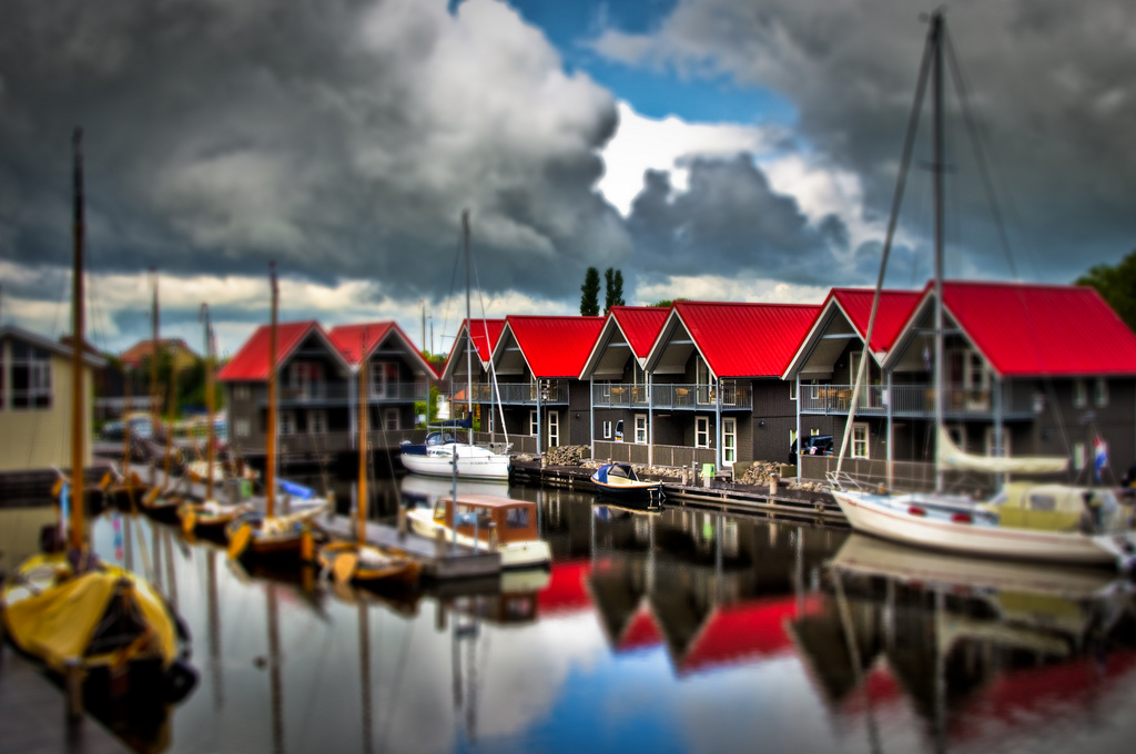 Harbor Miniature Fake tilt Shift Photography