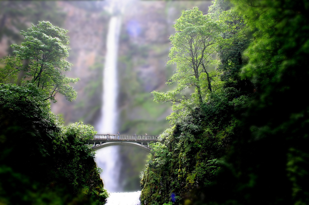 Multnomah Falls Tilt Shift Photography