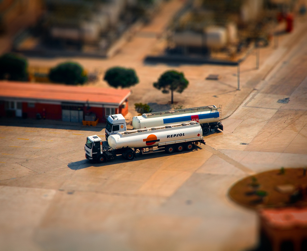 Petrol Tank miniature tilt Shift Photography