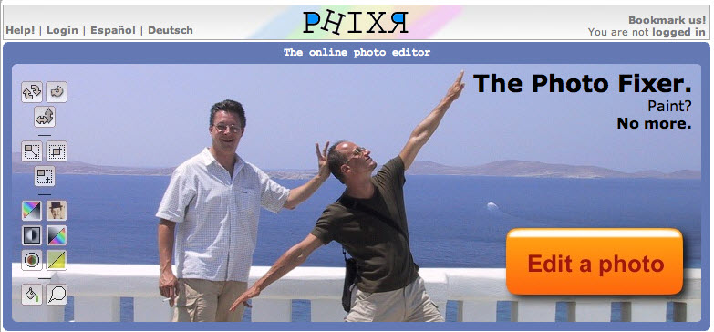Phixr Online Photo Editor