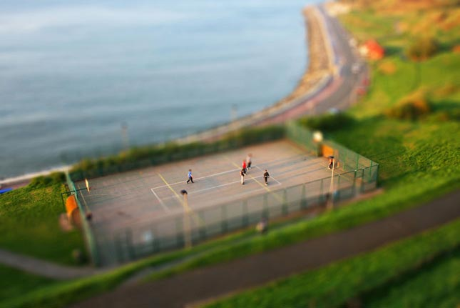 Playground tilt Shift Photography