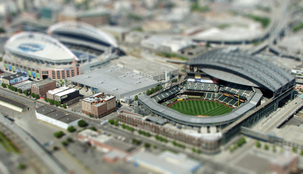 Qwest and Safeco Fields mini tilt Shift Photography