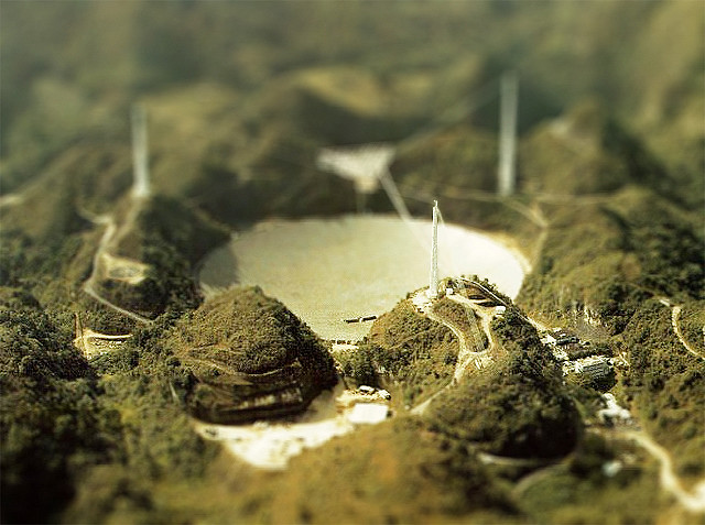 mini largest radio telescope tilt Shift Photography