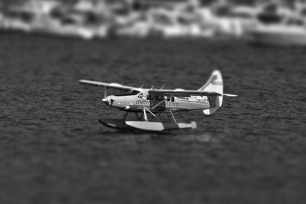 Sea Plane miniature tilt Shift Photography
