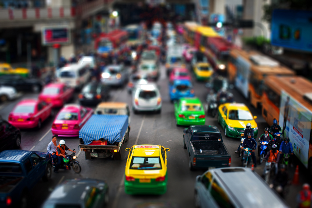 Small City tilt Shift Photography