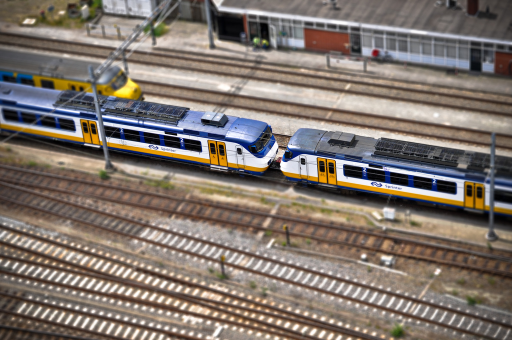 trains Tilt Shift Photography