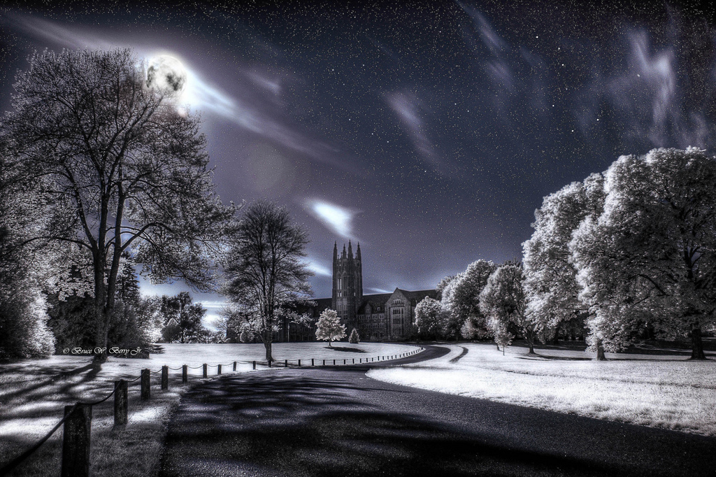The Winter Solstice at Midnight in a Perfect World Infrared photography with HDR effect