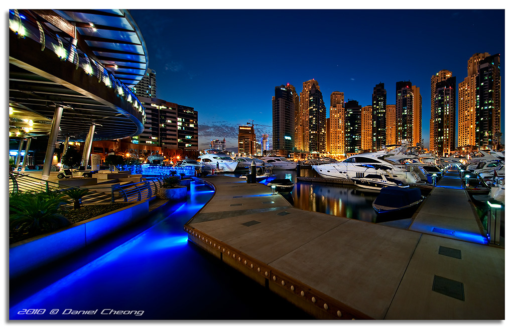 Dubai Marina Blue - Inspiring Nightscape photography