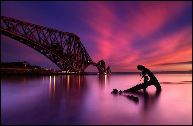 Forth Rail Bridge @ Sunset - Scotland - Nightscape photography