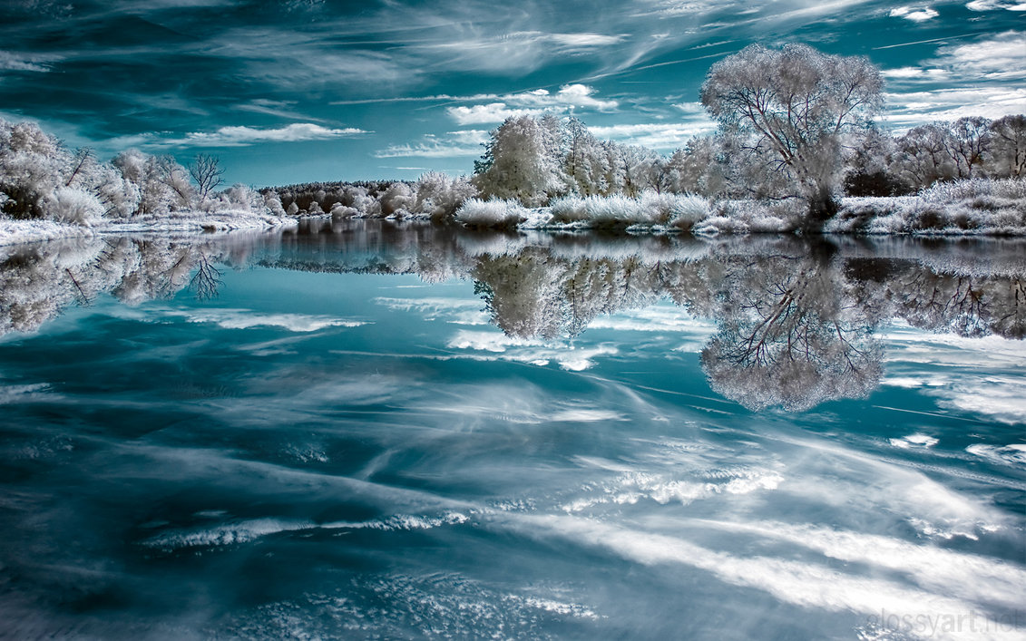 Mirror of Ice Infrared Photography