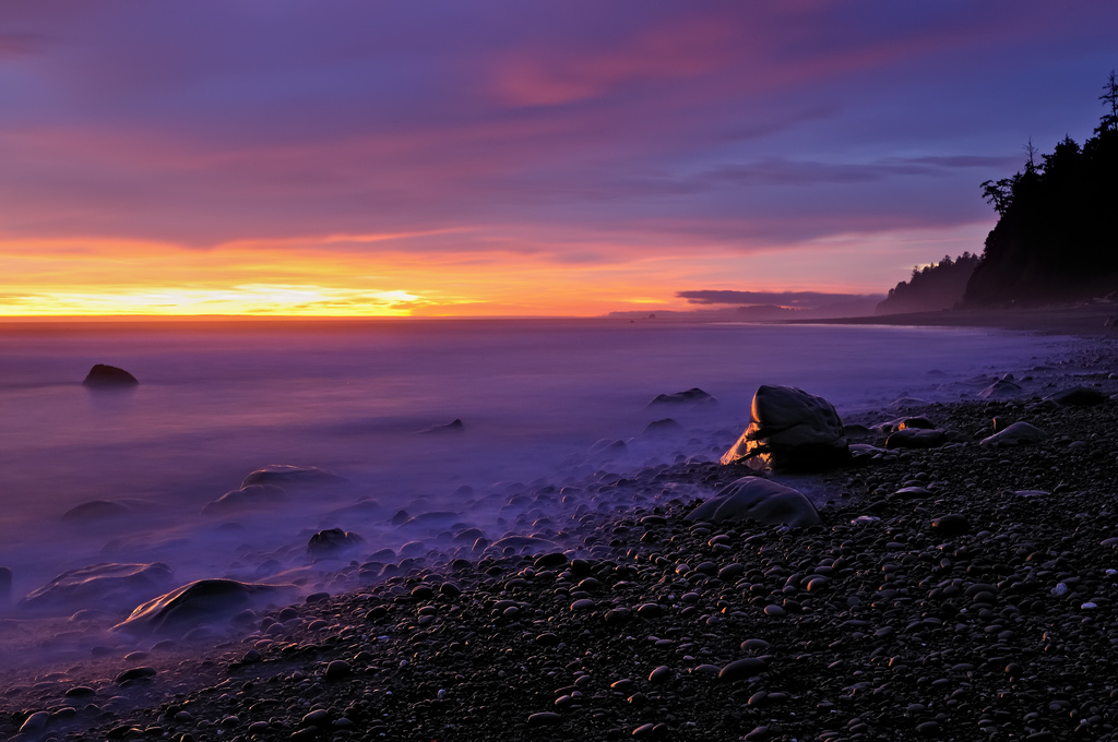 Olympic Pacific Coast Last Light Catchers - Nightscape photography