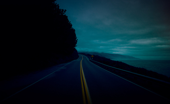 Pacific Coast Highway - Nightscape photography