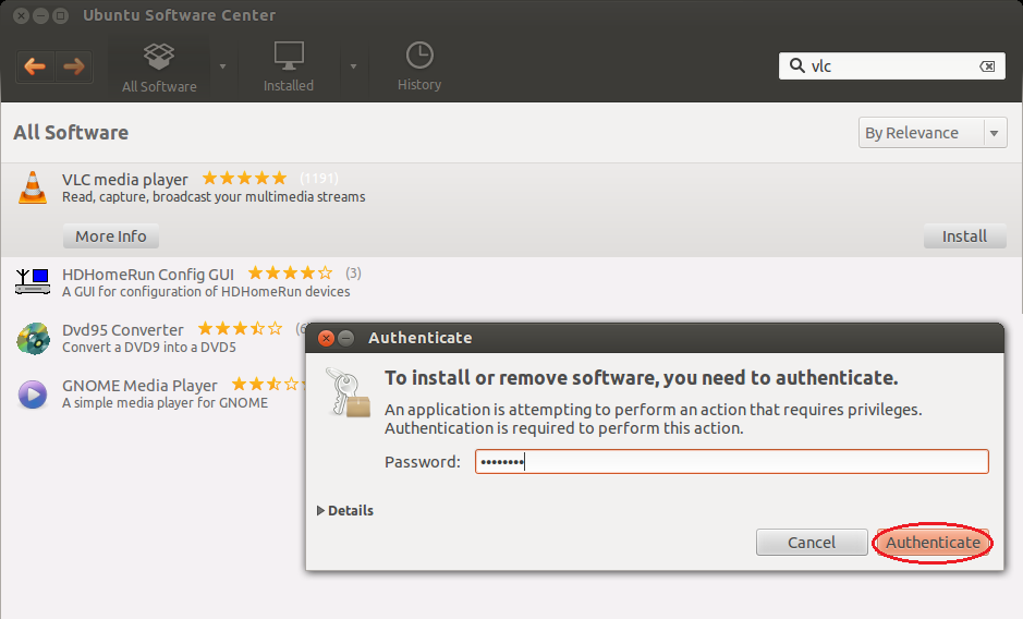 how to stop installing in ubuntu software center
